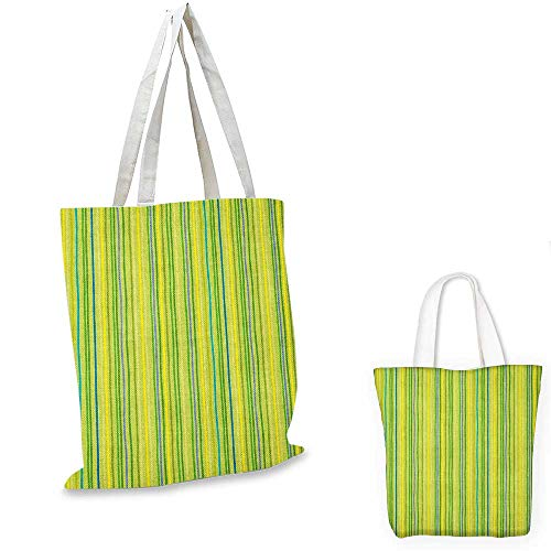 Recycled Vertical Messenger Bag - Lime Green canvas messenger bag Pastel Toned Vertical Bands Striped Lines Geometric Figures Soft Print canvas beach bag Pale Green Yellow. 12