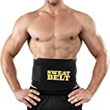 TST TRADERS - BODY SHAPER SWEAT SLIM BELT FOR FAT CUTTER & FAT BURNER, SLIMMING BELT & WAIST TRIMMER BELT FREESIZE FOR ALL