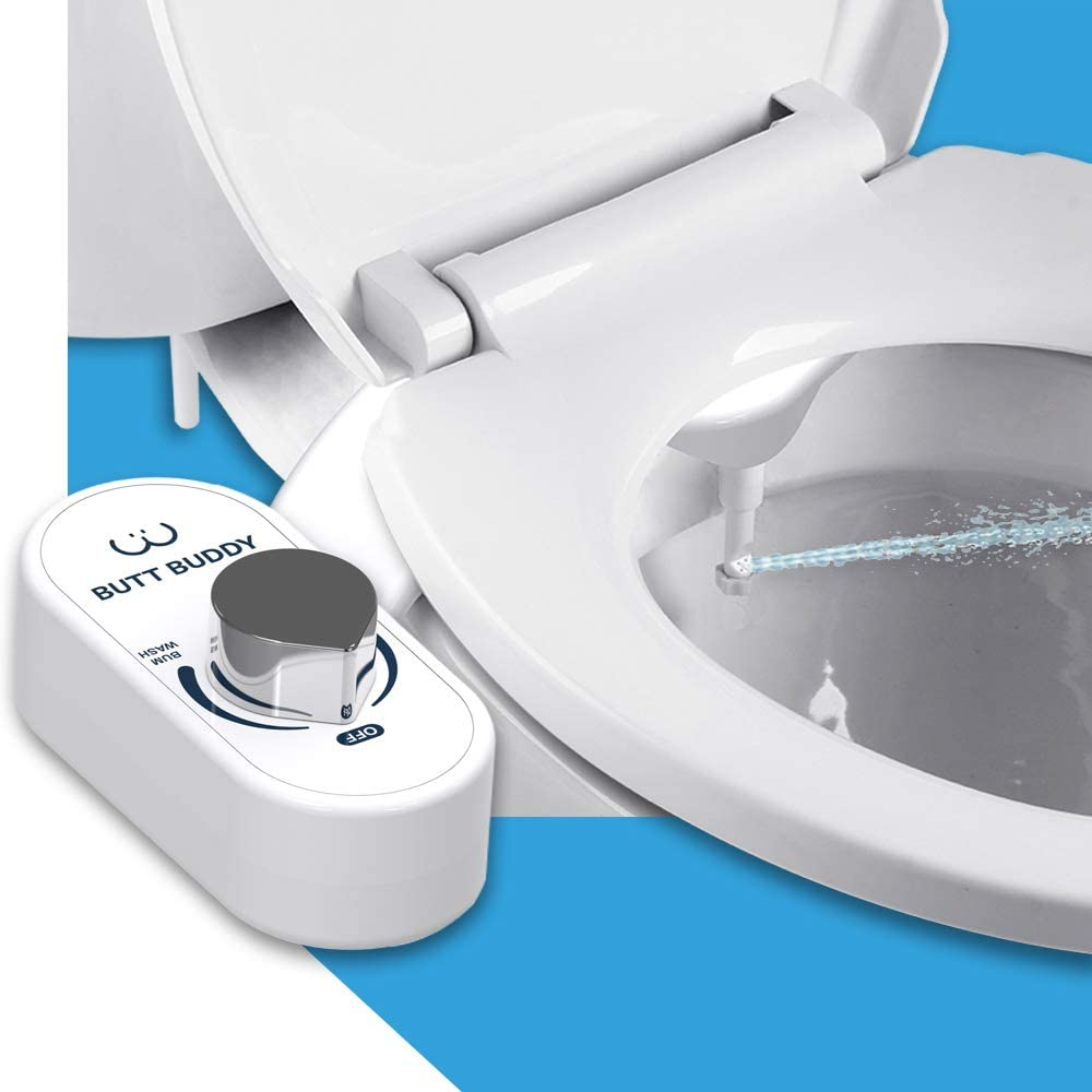 Butt Buddy Bidet Toilet Seat Attachment Fresh Water Sprayer Easy To Install Non Electric Self Cleaning Nozzle Gentle Wash Healthy Life Sanitary Bathroom Amazon Com