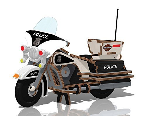 Kids Preferred Buildex Wood Build -N- Play Toy, Harley Police - Sale Motorcycles Wooden For