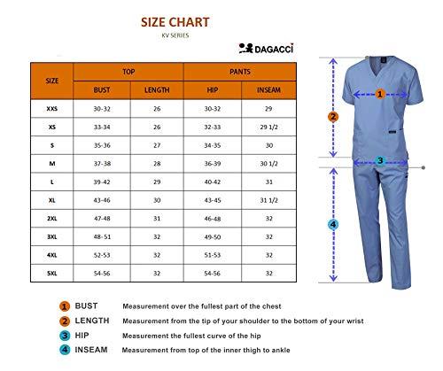 Dagacci Scrubs Medical Uniform Men Scrubs Set Medical Scrubs Top and Pants (XX-Large, Petwer Gray)