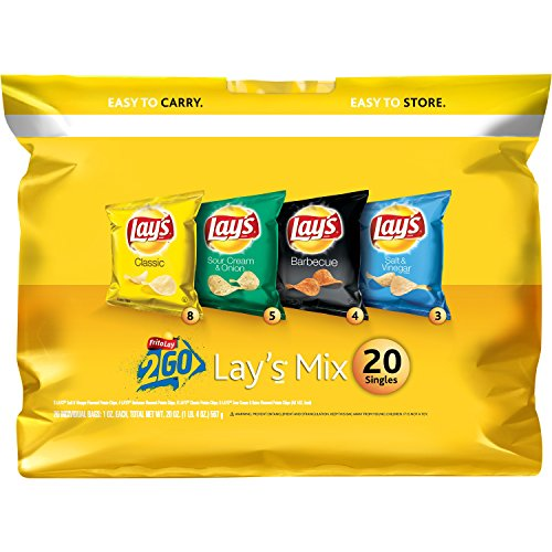 Lay's Potato Chips Variety Pack, 20 - Potato Lays Classic Chips