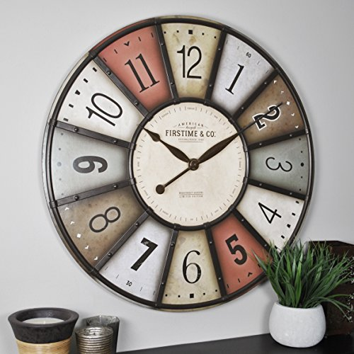 FirsTime & Co 31033 FirsTime Color Motif Wall Clock, 27