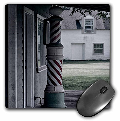 3dRose LLC 8 x 8 x 0.25 Inches Mouse Pad, Photo of an Old Barber Shop Poll - (mp_173607_1)