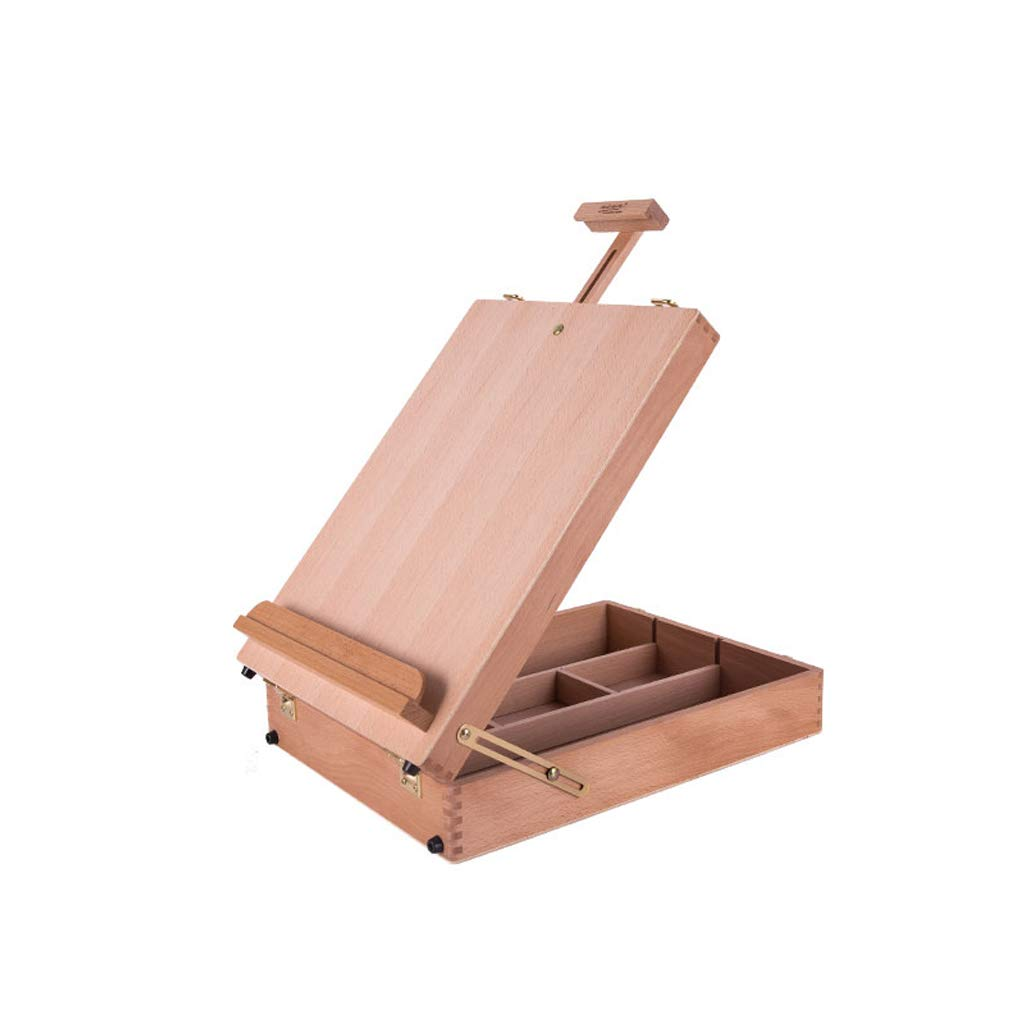 LYLLYL Portable Sketching Oil Painting Picture Box Wooden Desktop Oil Painting Frame, Easy To Carry And Easy To Carry, Can Be Used By Adult Students easel (Size : Small)