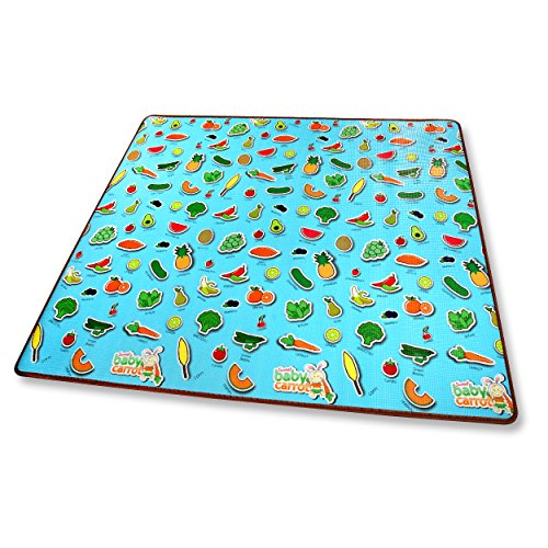 Read About Sweet Baby Carrot Baby Play Mat Thick, Safe Foam Play, Sensory Development, Fruit & Veggi...