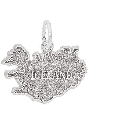 Rembrandt Charms, Iceland.925 Sterling Silver, Engravable