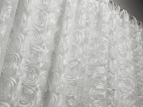 Efavormart 20ft x 10ft Rosette Party Wedding Backdrop,Photography Background - White