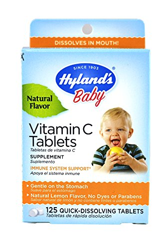 - Hylands Vitamin C Tablets Lemon 125 Tablets (Pack of 2)