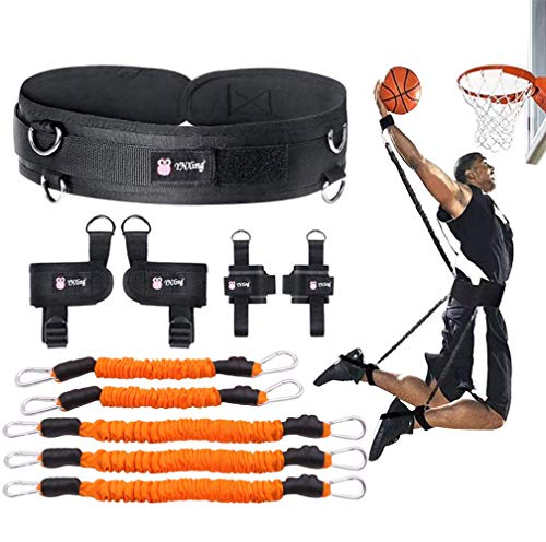 (YNXing Boxing Training Resistance Band Set Leg Strength and Agility Training Strap System for Boxing,MMA,Muay Thai,Karate Combat, Basketball,Football Build Speed and Strength for Hitting (Orange1))