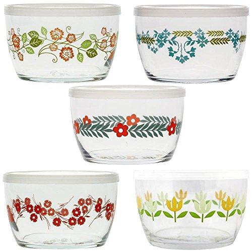 (Vintage Flower Storage Bowls Gift Set of 5)