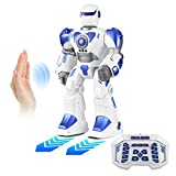 walking and talking robot - Remote Control Robot, Wirless Repeat/Talking Robot for kids, Feature Gesture, Dancing,Walking,Science, Big-size & Multi-funtional-White