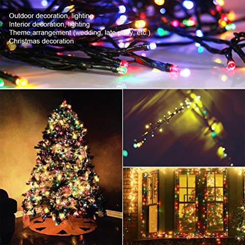 Patio String Lights 66 Feet/200 LED Decor, Multiple Flash Modes for Christmas, Party, Wedding, Bedroom, Outdoor Garden and Indoor Decoration, Controllable (Multi-colored)