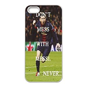 For SamSung Galaxy S6 Phone Case Cover Lionel Messi Quotes Don't Mess With Messi Protective Cute For Girls, For SamSung Galaxy S6 Phone Case Cover Yearinspace, [White]
