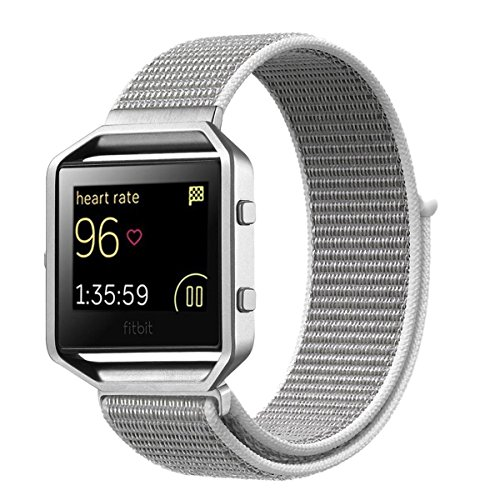 Fitbit Blaze Band Frame, JINGCI New Nylon Sport Loop with Ho