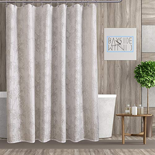 Bayside Wind Burnout Fabric Shower Curtain, White/Tan, for sale  Delivered anywhere in USA