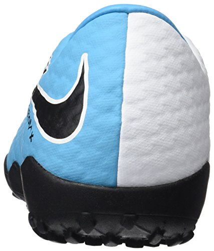 Nike Hypervenomx Phelon 3 Tf, Botas de Fútbol para Hombre Azul (White/black-photo Blue-chlorine Blue)