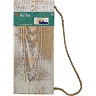 """Lara's Crafts White Wash Rustic Plank Sign with Jute Hanger, 12.6"""" L x 5.5"""" W x 0.39"""" H"""