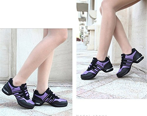 Air De Light Sports De Net New Zapatos Deck Baile Gym Baile Trainers Soles Mujer F De Dance Cushion Zapatos Modern Dance De Square Altura Zapatos Shoes P1wCxqqaH