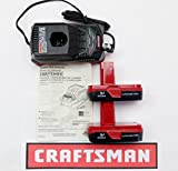 Craftsman 12-19.2 Volt Multi Chemistry Charger CH2021 + (2) 2011 Lithium-Ion Batteries