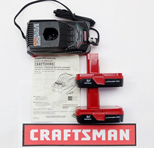 Craftsman 12-19.2 Volt Multi Chemistry Charger CH2021 + (2) 2011 Lithium-Ion Batteries by Craftsman