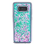 Galaxy S8 Case, VPR Sakura Liquid Quicksand Moving Stars Bling Glitter Floating Dynamic Flowing Love Heart Clear Soft TPU Protective Cover for Samsung Galaxy S8 16 Compatible Model: Samsung Galaxy S8. Material: High quality polycarbonate plastic and quicksand. The case is transparent with liquid inside,which is fashionable ,popular and interesting.