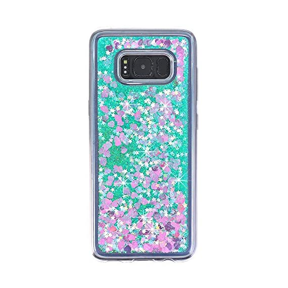 Galaxy S8 Case, VPR Sakura Liquid Quicksand Moving Stars Bling Glitter Floating Dynamic Flowing Love Heart Clear Soft TPU Protective Cover for Samsung Galaxy S8 8 Compatible Model: Samsung Galaxy S8. Material: High quality polycarbonate plastic and quicksand. The case is transparent with liquid inside,which is fashionable ,popular and interesting.