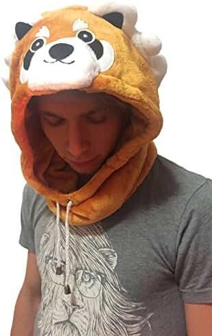 Onesie Costumes Cosplay Pajamas Sleeping Cap Adult Kids Head Wear Indoors Outdoors Rave Animal Hood Fleece - Bunny Rabbit, Panda, Giraffe, Raccoon, Cow Hood / Hat