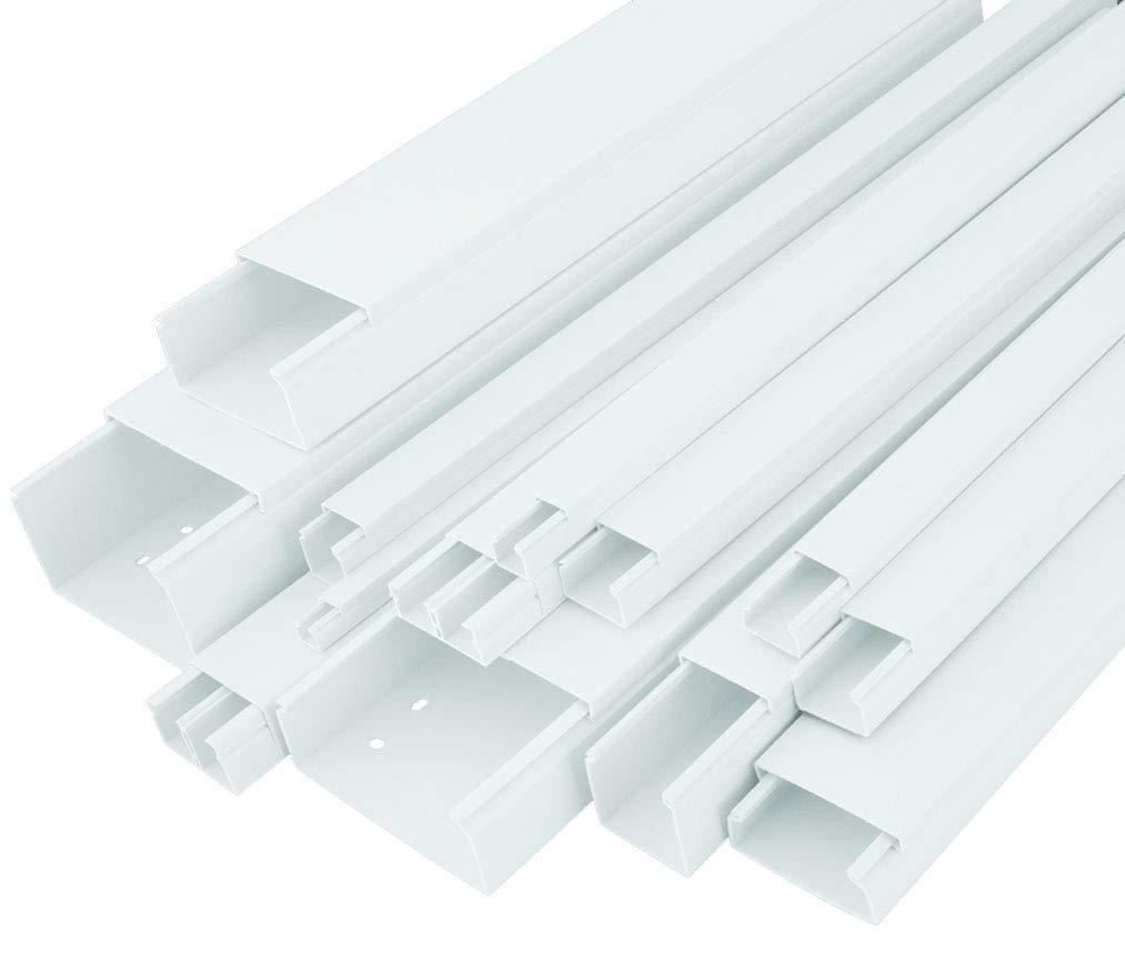 20m KABELKANAL StilBest L x B x H 2000x16x16 mm PVC Kabelleiste Weiß Schraubbar