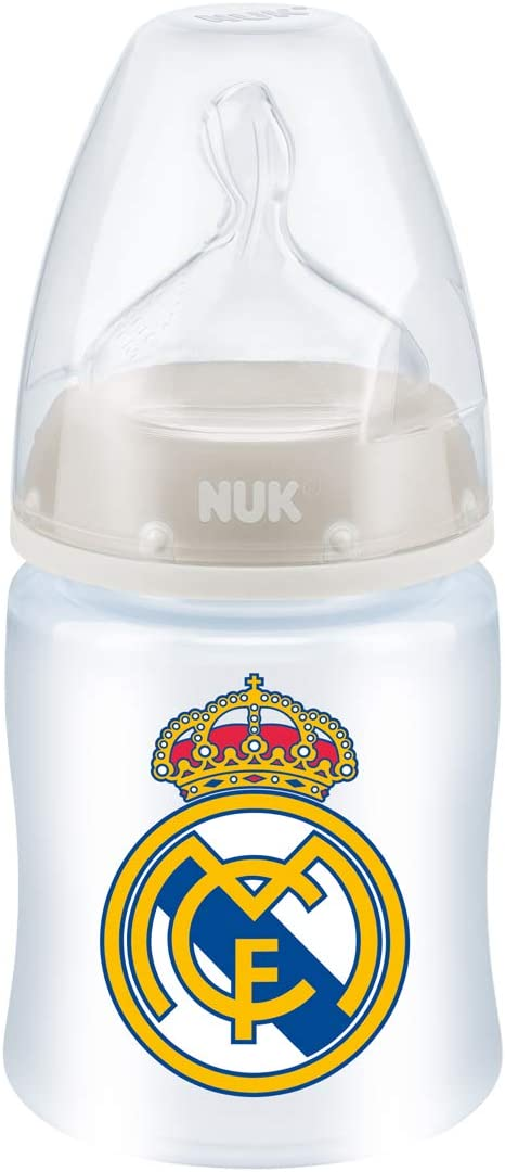 / 6/ m Nuk First Choice Biberon en plastique Real Madrid T/étine en silicone Taille M 0/  150/ ml