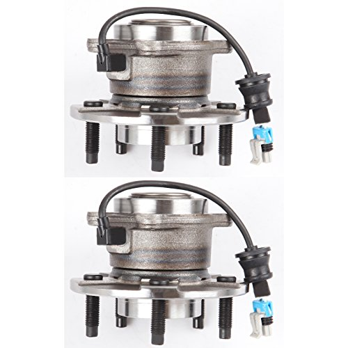 SCITOO Compatible with Both (2) 512229 New Rear Wheel Hub and Bearing fit 05-06 Chevy Saturn 5 Lugs W/ABS