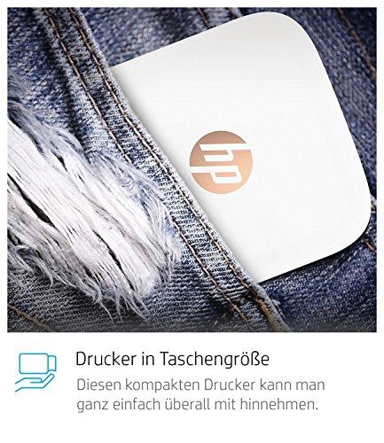 HP Sprocket Portable Photo Printer, X7N07A, Print Social Media Photos on 2x3 Sticky-Backed Paper - White
