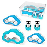 KAZOO Kitchen Cookie Cutters for Kids(5 Piece), Sandwich Cookie Cutters Shapes Set, Car Mold Cookie Cutters for Party - Big/Medium Size