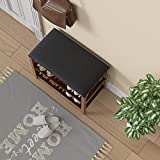 SeiriOne Shoe Rack Bench, 3-Tier Bamboo Shoe