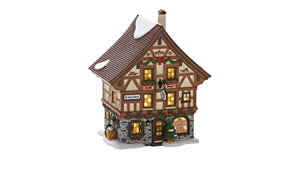 7.7-Inch Department 56 North Pole Series Village Northern Lights Depot Lit House