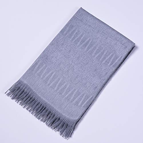 (nouler Autumn and Winter Scarf Wild Plaid Ladies Travel Poncho Imitation Cashmere National Wind Split Thick Cloak Women,Knitted Capes Wraps Cardigans Coat Scarves Stoles,Gray,One)