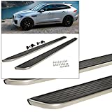 Side Step Running Board Nerf Bar Aluminum Chrome Silver 2017-2018 Jaguar F-Pace