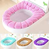 brown cushion toilet seat Toilet Seat Covers - O Shape Toilet Cushion Mat Thick Knitted 1pc Pumpkin Pattern Bathroom Standard Seat Cover - Stickers Training Cloth Same On Holder Black Xl Kole Charmin