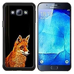 "Be-Star Único Patrón Plástico Duro Fundas Cover Cubre Hard Case Cover Para Samsung Galaxy A8 / SM-A800 ( Glowing Flaming Fox"" )"
