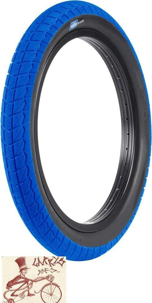 Bike tire, Two Tire Duro 27 x 1 1//4 Black//Blue Side Wall HF-156 Bicycle tire