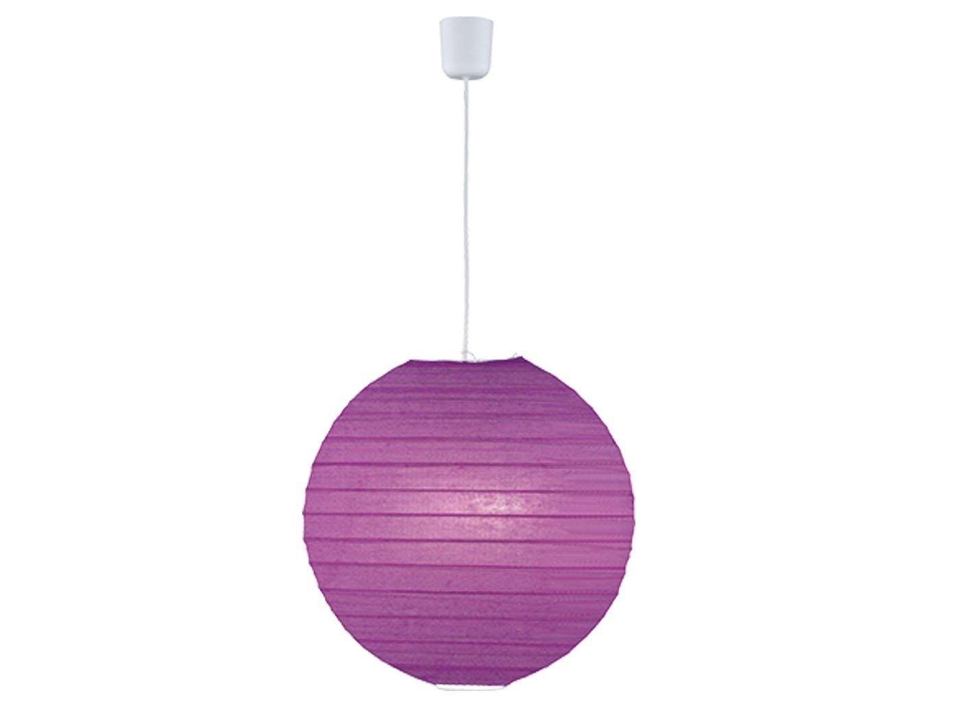 Plafoniera Fiori Lilla : Lampada a sospensione lampione diametro 40 cm in carta lilla viola