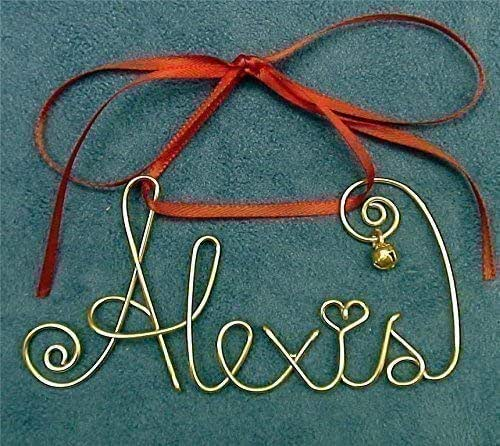 Amazon.com: Personalized Gold Or Silver Wire Name