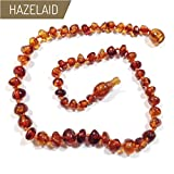 Hazelaid (TM) 14'' Pop-Clasp Baltic Amber Cognac Necklace