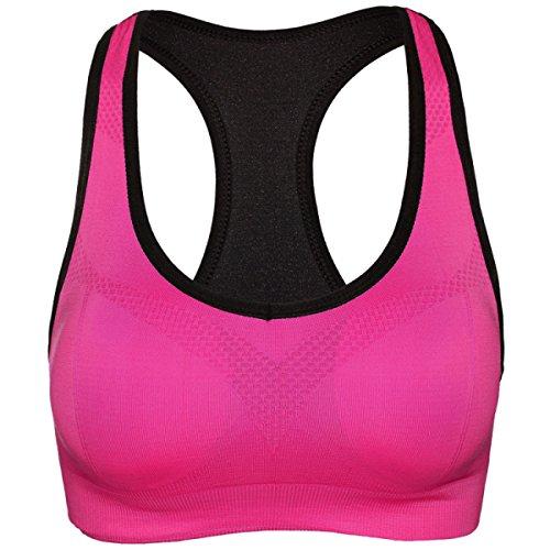 Hsnnyqt Sujetador Deportivo Mujer Ropa Interior Cómodo Yoga Corriendo Aptitud Del Chaleco Chaleco Sujetador De Gran Tamaño Sujetador Del Sueño RoseRed