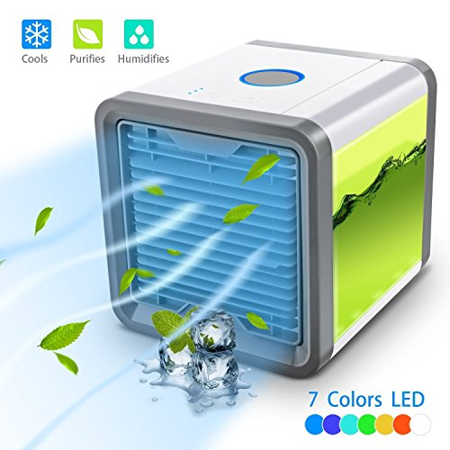 Personal Space Cooler,Arctic Air Personal Space Cooler Air Purifier Humidifier 3 in 1, Three Fan Speeds 4-Foot Cooling Area, Portable Air Conditioner for Office and Bedroom