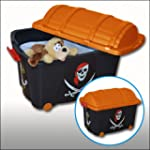 Pirate Style Black Toy Storage Box