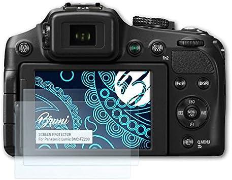 Bruni Protecteur d/écran pour Panasonic Lumix DMC-FZ7 Film Protecteur Cristal Clair /Écran Protecteur 2X