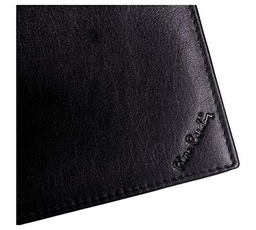 Amazon.com: Pierre Cardin Mens Black Leather Wallet and Gift Box: Sports & Outdoors