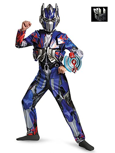 Hasbro Transformers Age of Extinction Movie Optimus Prime Deluxe Boys Costume, Large/10-12