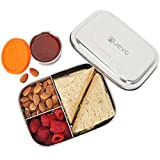Stainless Steel Lunch Box for Kids with Leakproof Dips Condiment...